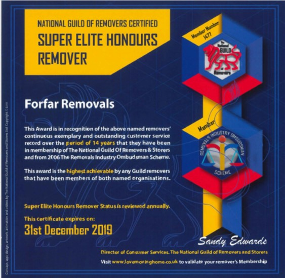 Super Elite Honours Remover Certificate Exp Dec 2019
